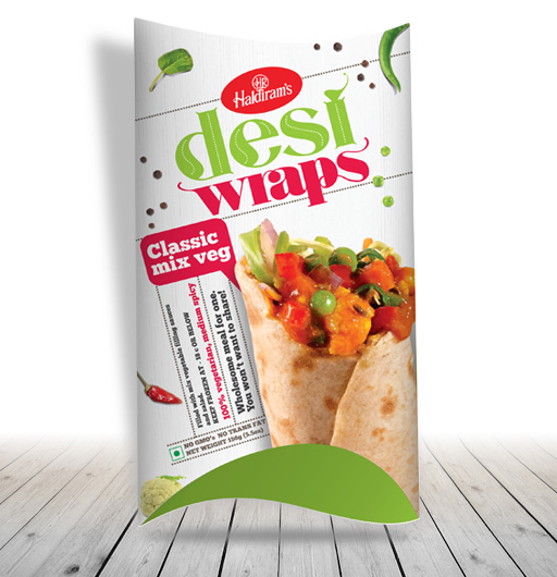 Desi Wraps Mix Veg(156gms)